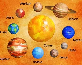 Ironing Image Planet Solar System Set