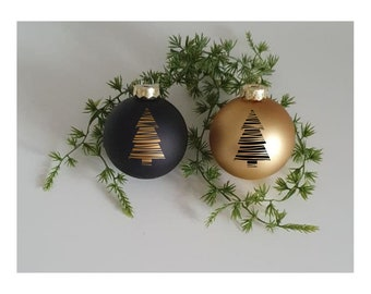Personalized Christmas tree ball desired name many colors
