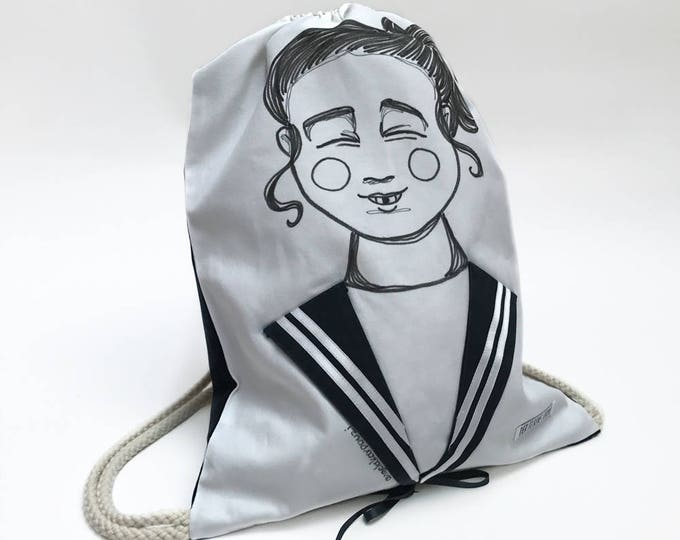 Sailor Bag SUZIE - Drawstring backpack with Sailor Collar