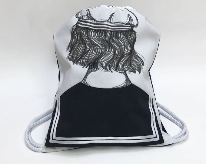 Sailor Drawstring Bag OLIVER - Backpack - Matrosen Rucksack
