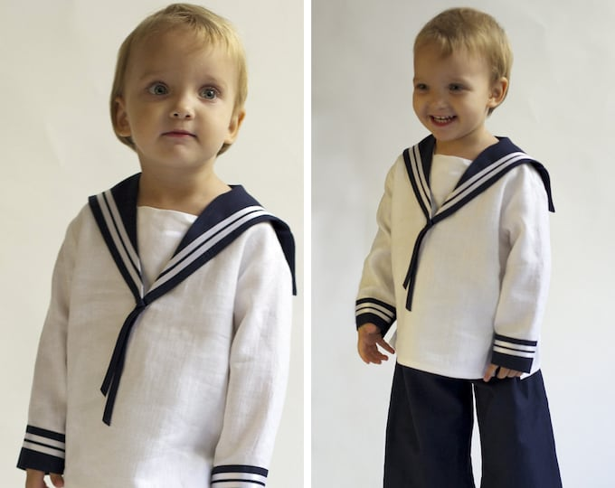 Sailor Suit for children Linen Deluxe in high quality for children