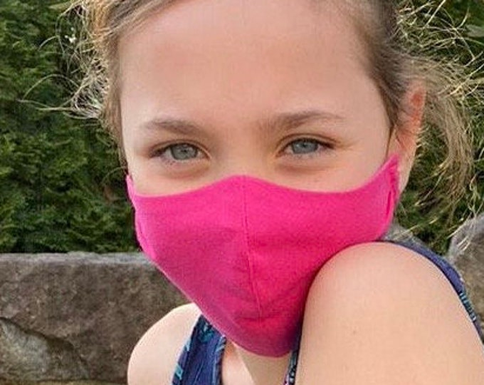 Face Mask for Kids Girls and Boys made of washable Cotton