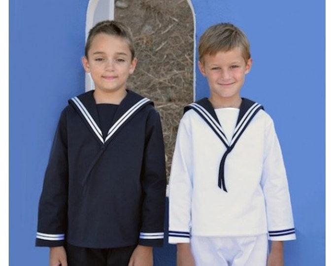 Sailor Suit for boys DER FESCHE FERDL Classic Edition in blue Deluxe Cotton