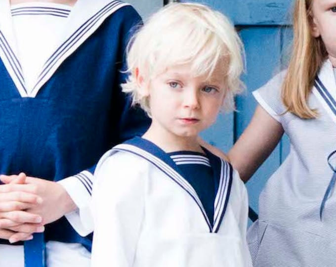 Sailor Suit FERDINAND - Nautical Boy Suit - Traje de marinero - Victorian Boy Sailor Suit for