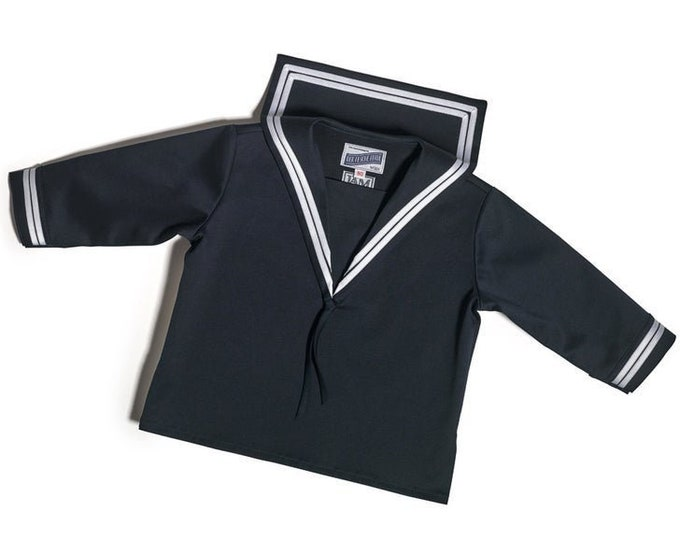 Sailor Shirt in blue Cotton DER FESCHE FERDL Classic  -  Costume marin -  Traje de Marinero