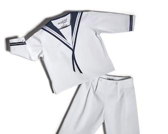 Sailor Suit DER FESCHE FERDL Classic Edition - Matrosenanzug - Weiß -  Costume marin -  Traje de Marinero