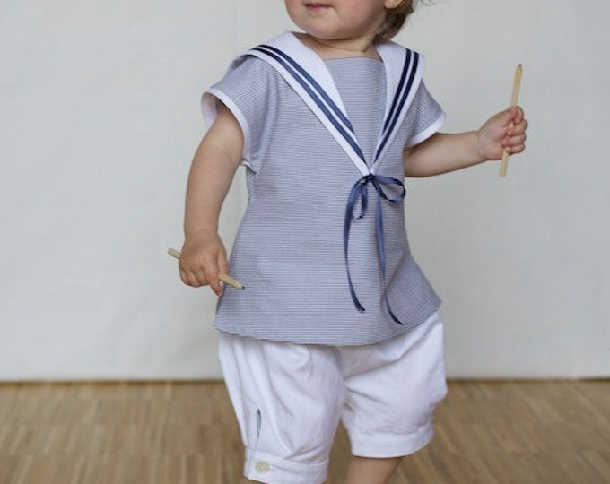Classic Baby Sailor Suit light blue