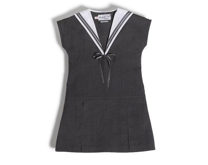 Sailor Collar Dress for Girls worn on the first day of school or preschool