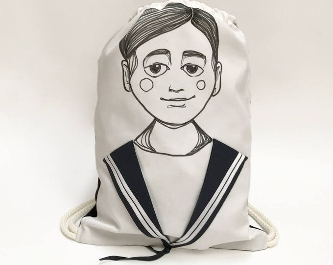 Sailor Drawstring Bag JAMIE - Backpack - Matrosen Rucksack