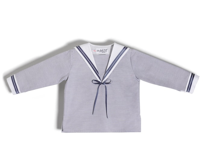 Baby Boy Sailor Shirt lightblue with white Sailor collar
