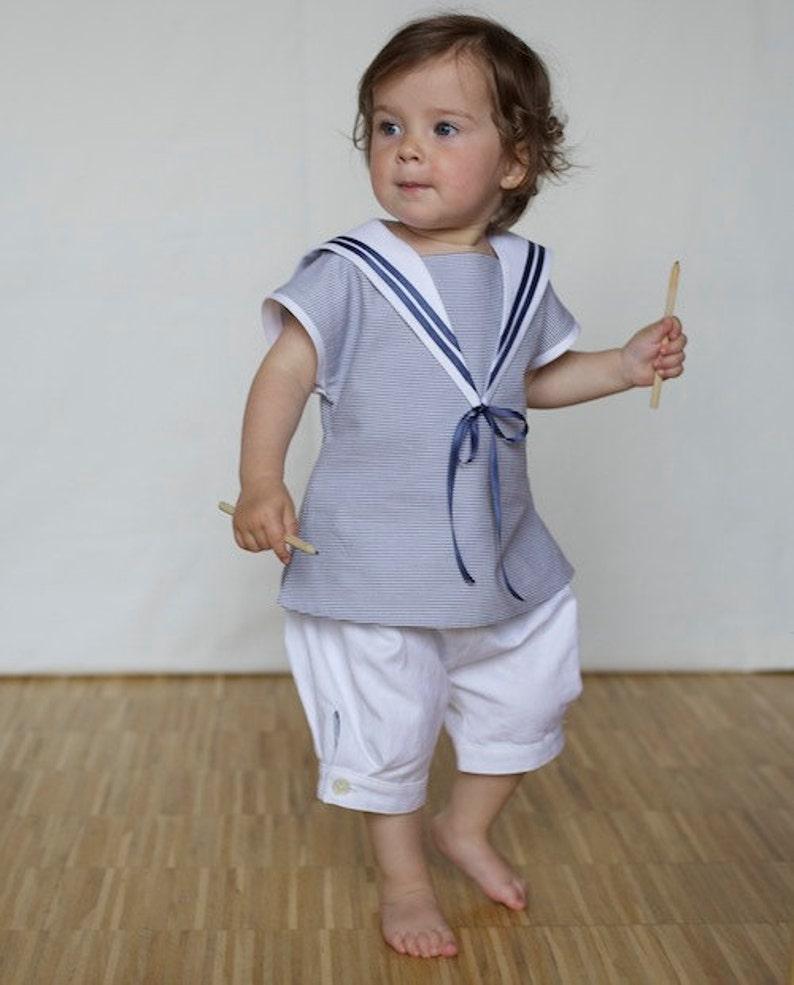 Classic Baby Sailor Suit light blue image 0