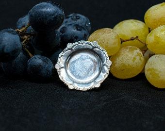 1/12 artisan Dollhouse Miniatures: Plate with seashell pattern (IGMA artisan)