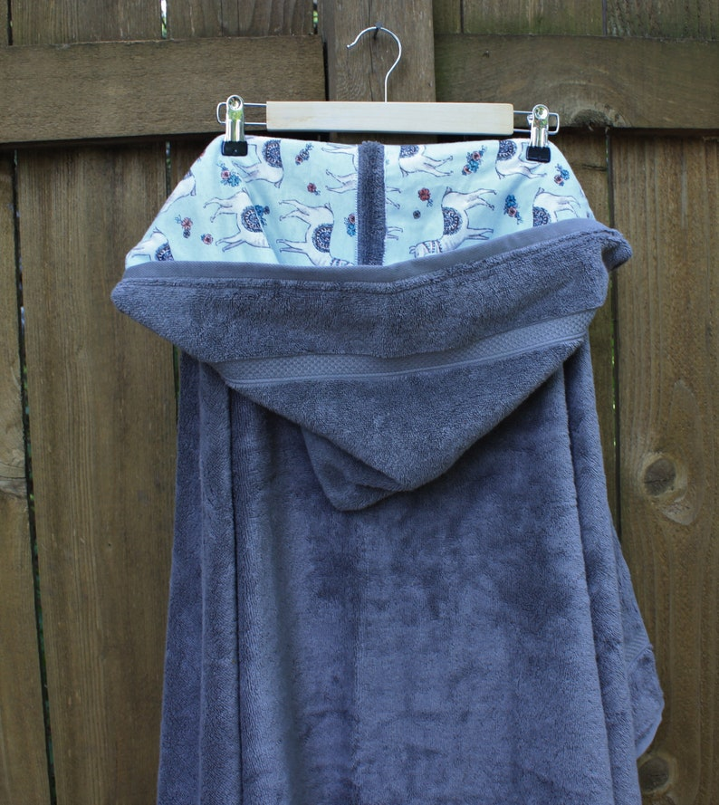 large tween hooded bath towel Teen hooded bath towel with optional llama flannel full size teen towel personalized teen hooded towel