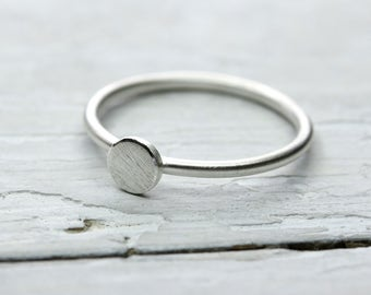 Silver Ring point 5 mm, Punktring, 925 silver, ring round washer, tender ring