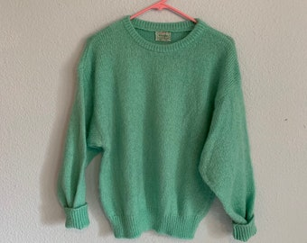 57d78ee21b6 Vtg 80 s United Colors of Benetton Mint Pullover Sweater
