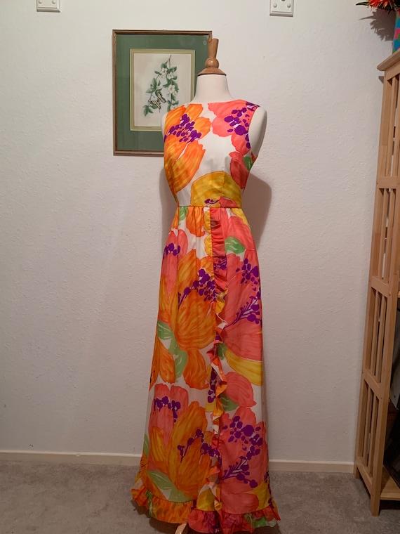 Vtg 60's  Malia of Honolulu - Hawaiian Sleevelss M