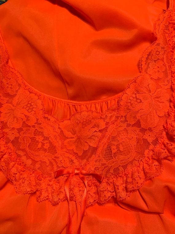 Vtg 60's Dark Orange Nightgown, Vtg Vanity Fair Me