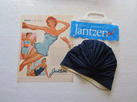 Vintage Jantzen Bathing Swim Cap in Original Packa