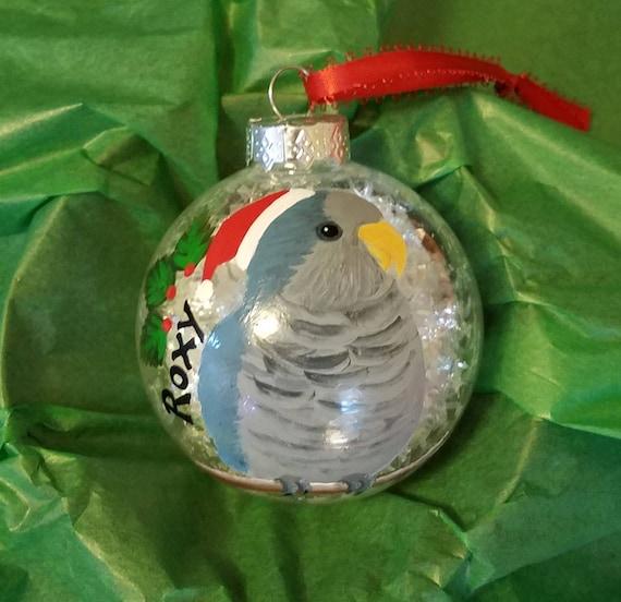 Blue quaker parrot Christmas ornaments - Blue Quaker Parrot Christmas Ornaments Etsy