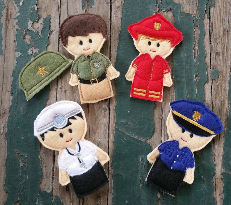 Sold Individually or as a Set Everyday Heroes Finger Puppets