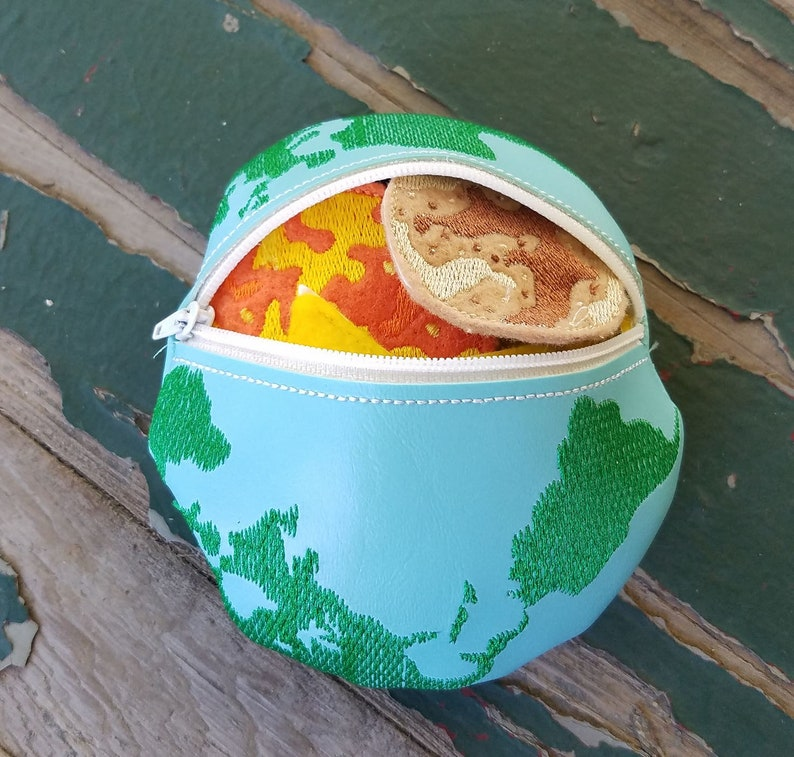 Optional Earth Shaped Case Solar System Finger Puppet Play Set Sold Individually or as a Set Astronauts Rocket Planet Play Set