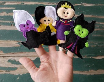 Fairy Tale Villains Finger Puppets - Sold Individually or as a Set