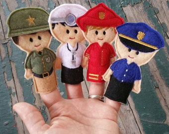 Everyday Heroes Finger Puppets - Sold Individually or as a Set