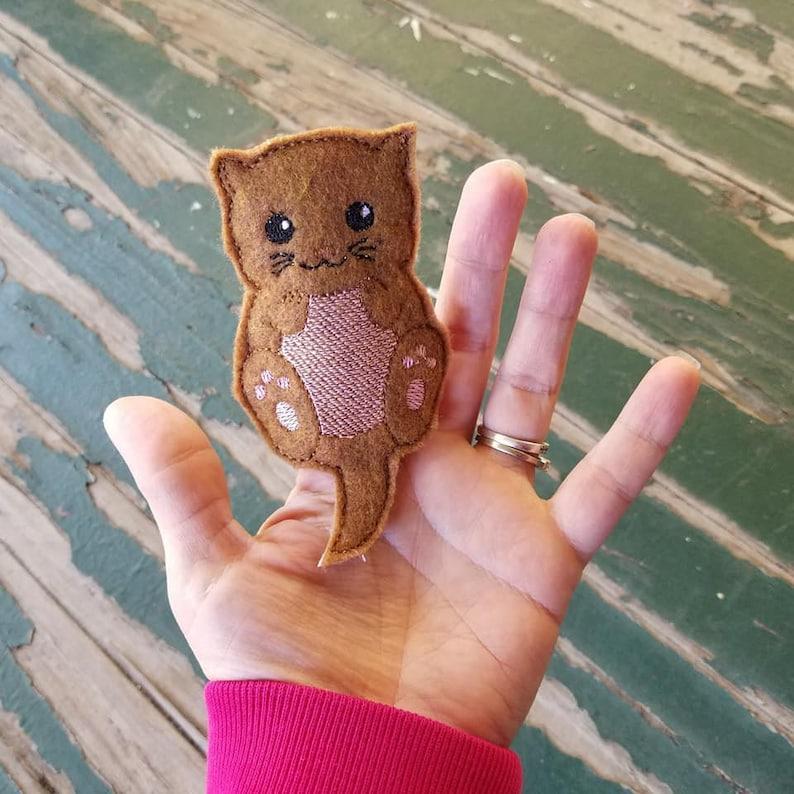 Bendable Otter Finger Puppet Otter Finger Friend Otter Finger Puppet