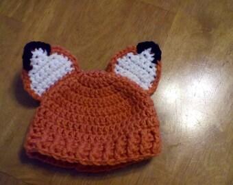 Newborn Fox Hat