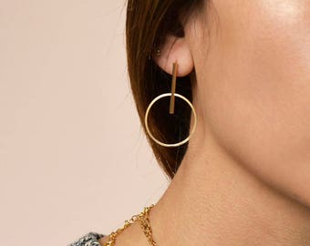 Swinging Hoop Earrings