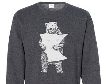 Sweat Shirt - MN Bear Hug Grey