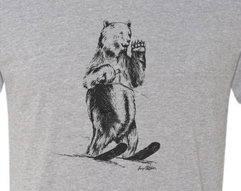 Water Skiing Bear - tshirt