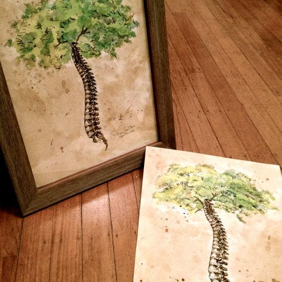 16x20 Arbor Vitae Tree of Life Spine tree | Etsy