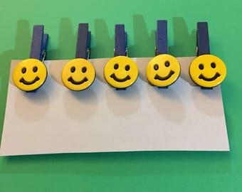 Small decorative clothespins