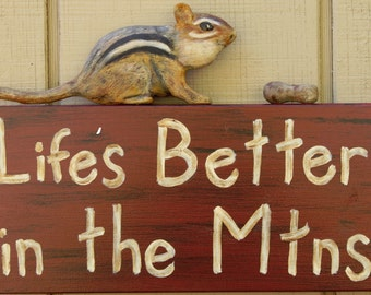 Chipmunk Cabin Sign, Cabin sign, Lodge sign, Lodge decor