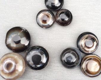 Eye agate beads Round banded eye agate grey gemstone beads. Agate beads Irish supplier jewellery craft making. Statement Shiva eye agate