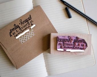 Custom Address Stamp - Hand-Carved