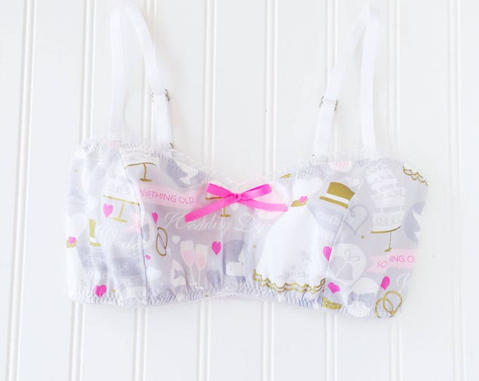 READY TO SHIP Kawaii Bride bralette bra soft bra