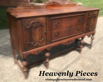 Etonnant Beautiful Antique Buffet, Sideboard, Ready To Be Custom Painted For You