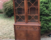 Antique Hutch, China Cabinet, Ready to Custom Paint (Shipping is NOT Free, Please Request a Quote)