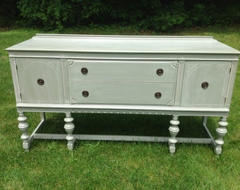 Antique Buffet/Sideboard, Painted & Glazed, Example of Our Work, Contact to See Similar in Stock Pieces