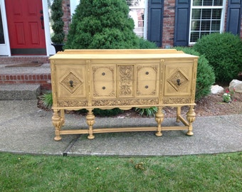 Gorgeous Antique Buffet, Example of Our Work, Contact to See Similar in Stock Pieces