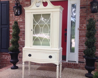Gorgeous Antique China Cabinet, Example of Our Work, Contact to See Similar in Stock Pieces