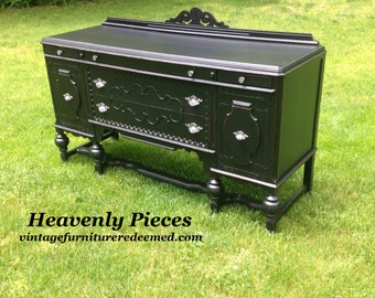 Antique Buffet, Vintage Sideboard, Example of Our Work, Contact to See Similar in Stock Pieces