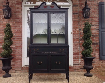 Gorgeous Antique China Hutch, Example of Our Work, Contact to See Similar in Stock Pieces