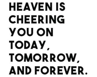 Heaven Is Cheering Etsy