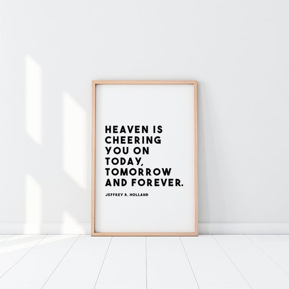 Heaven Is Cheering You On Lds Latter Day Saint Mormon Etsy