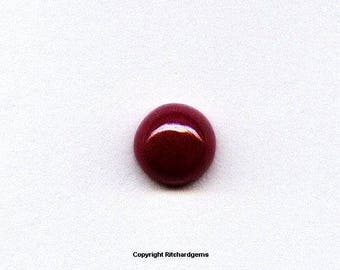 Natural 5 mm Cabochon Round  Pidgon Blood Ruby for One