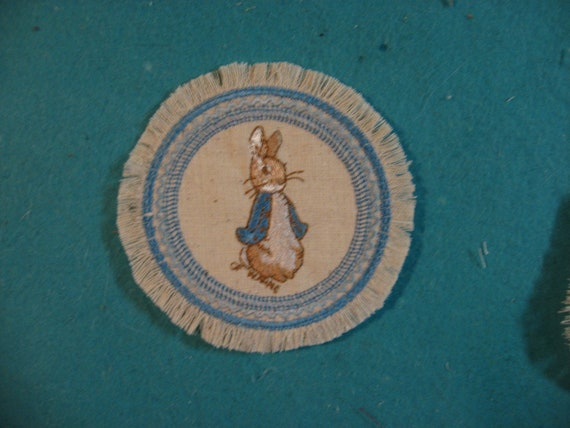 """Rabbit  Rug 1/"""" scale mini  rug for your Miniature Dollhouse Pink border"""
