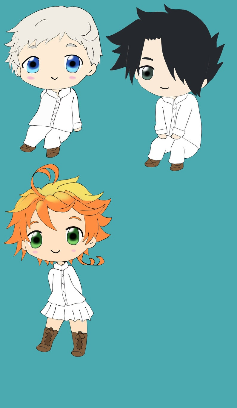 The Promised Neverland Norman Ray Emma Stickers
